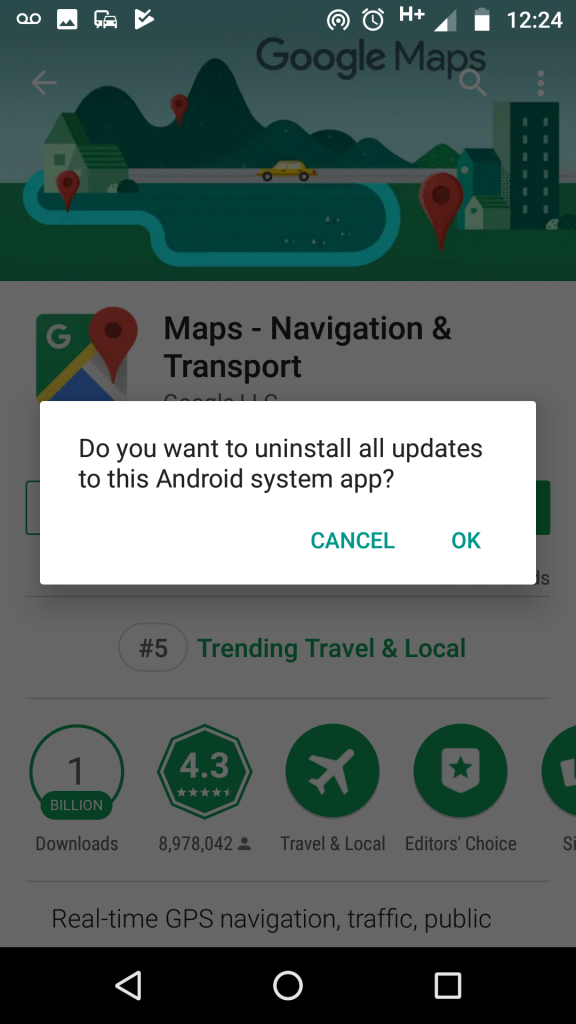 Google Map Android Canal Map loading issue   Open Canal Map